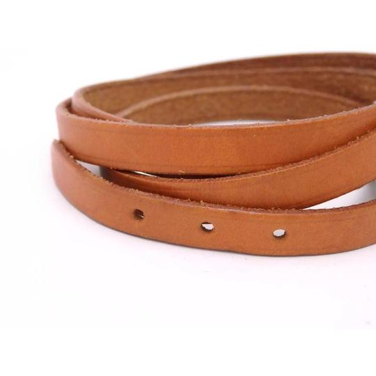 Hermès Hermes Brown Leather Buckle Bracelet Image 8