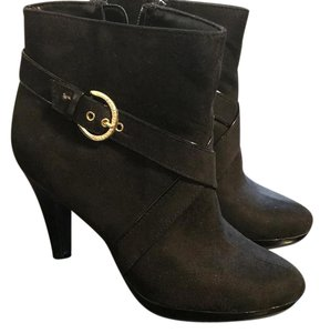 Christian Siriano for Payless Velvet Gold Accent Stiletto Black Boots