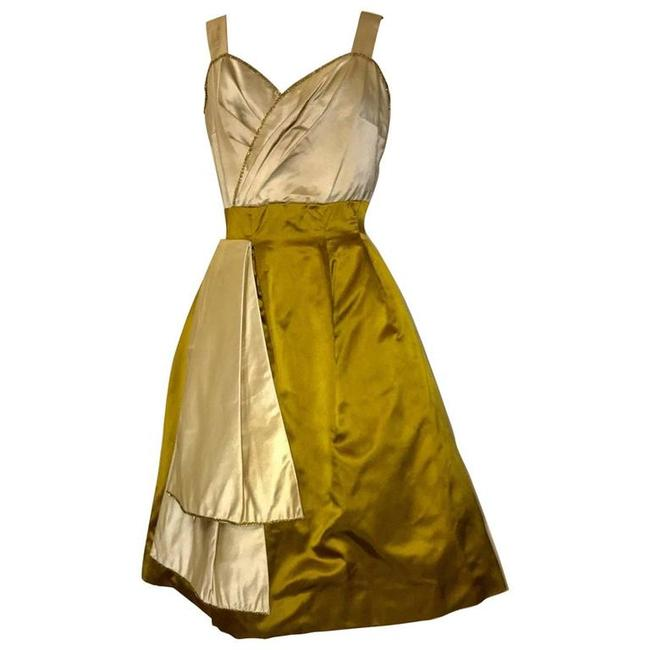 Preload https://img-static.tradesy.com/item/21829121/yellow-vintage-1950s-mid-length-cocktail-dress-size-6-s-0-0-650-650.jpg