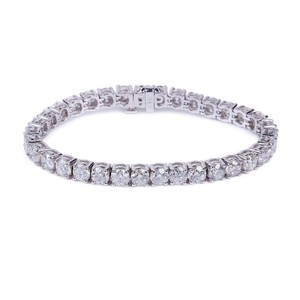 G Four Prong Setting White Gold 14k White Round Diamonds Si2 2.40twc Bracelet