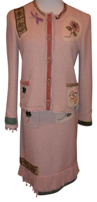 Item - Pale Pink Cheap and Chic Unique Blazer And Skirt Suit Size 6 (S)