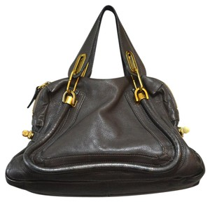 8a706012d Chloé Paraty Medium Rock Brown Pebbled Leather Shoulder Bag - Tradesy