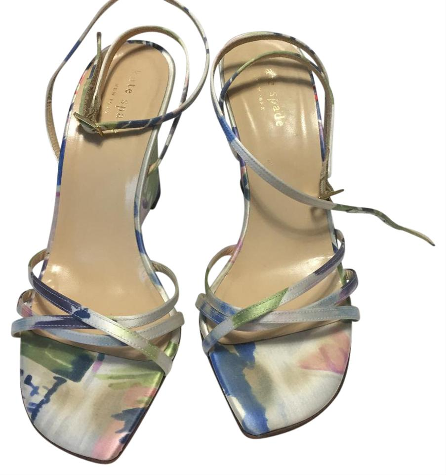 67a3072caa62 Kate Spade Multicolor Strappy Floral Wedges Size US 7 Regular (M