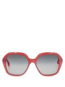 61d569fe9308 Miu Miu Miu Miu SMU06N Red with Silver Glitter Acetate Oversized Sunglasses