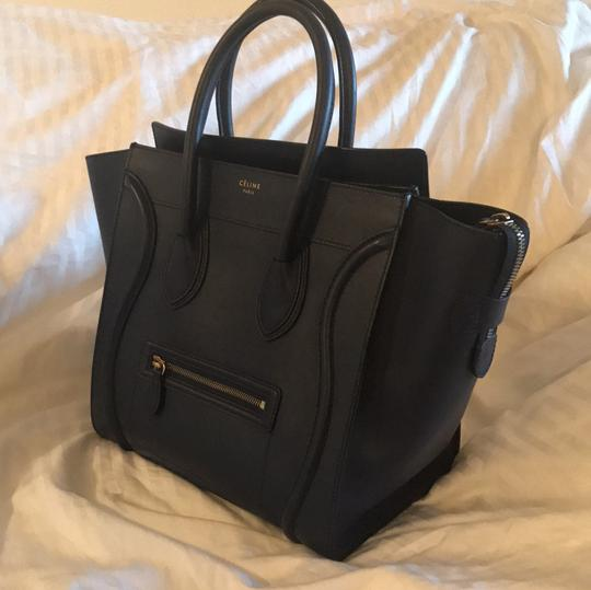 Céline Satchel in Navy Blue Image 1