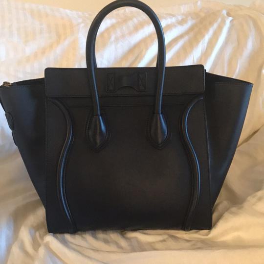 Céline Satchel in Navy Blue Image 3