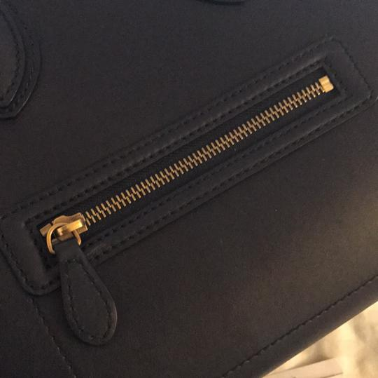 Céline Satchel in Navy Blue Image 7