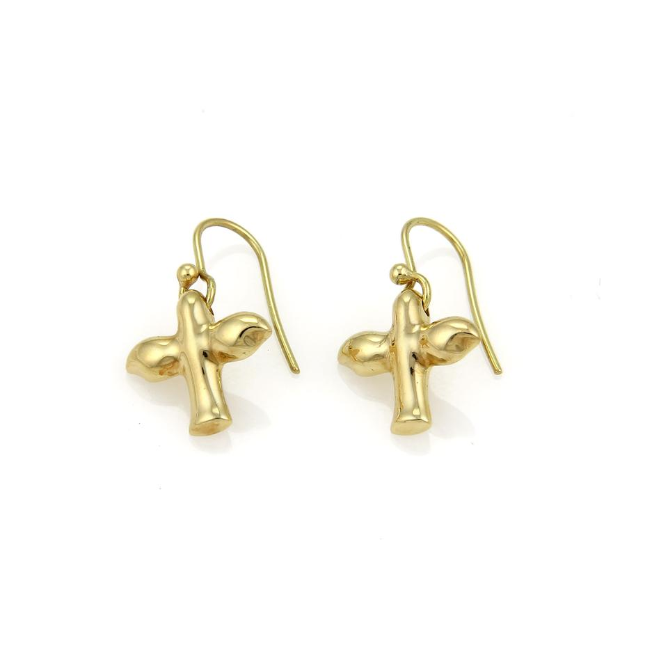 3bbc2aabf Tiffany & Co. Peretti 18k Gold Dove Hook Dangle Earrings Image 0 ...