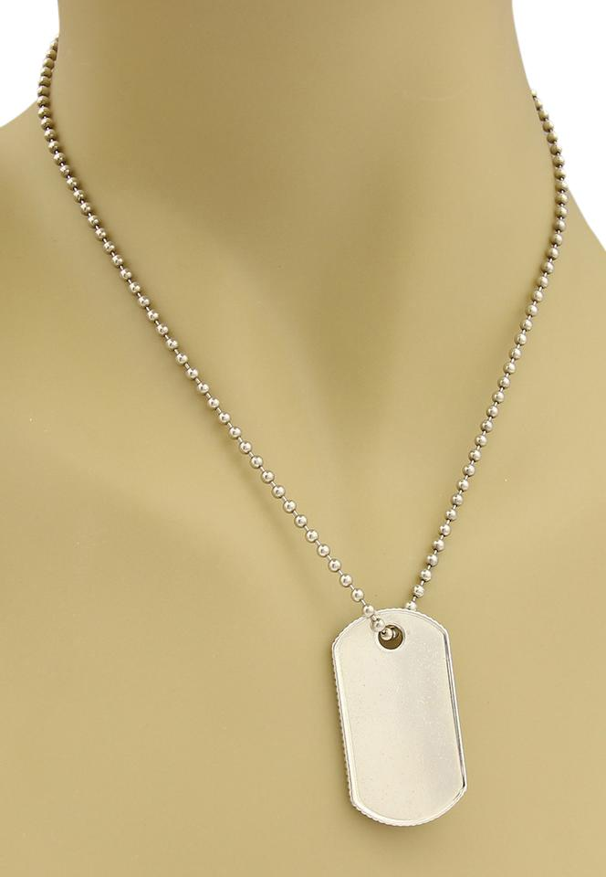 63acf74ad Tiffany & Co. Sterling Silver Dog Tag Pendant & Chain Necklace Image 0 ...