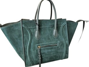 Céline Phantom Luggage Shopper Tote in Green
