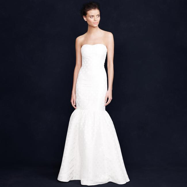 Item - White Silk Linen Blend Serena Feminine Wedding Dress Size 8 (M)