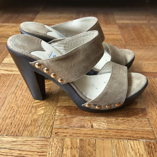 Jimmy Choo Studded Suede Tan Sandals Image 5