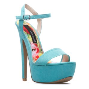 ShoeDazzle Heels Stiletto Pump Sandals Turquoise Platforms