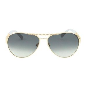 ed0b5d9deb76c Escada NEW ESCADA SES 862 Gold Metal Chain Detail Aviator Sunglasses