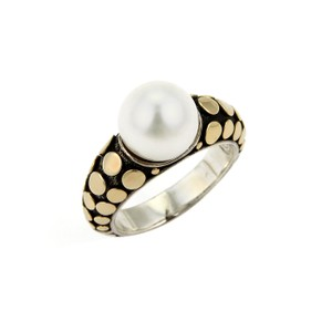 John Hardy Dots Pearl 18k Yellow Gold & Sterling Ring