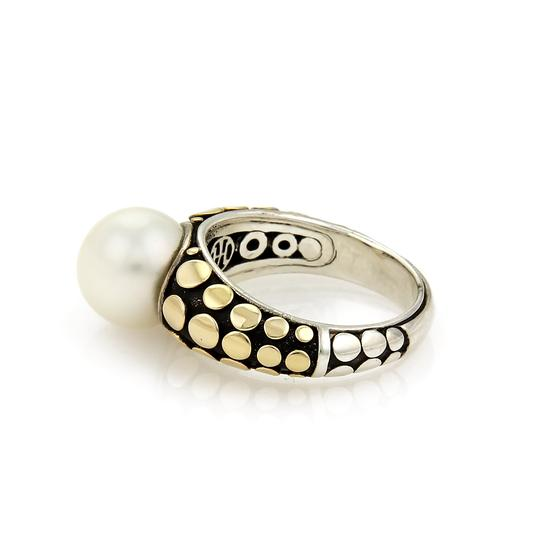 John Hardy Dots Pearl 18k Yellow Gold & Sterling Ring Image 1