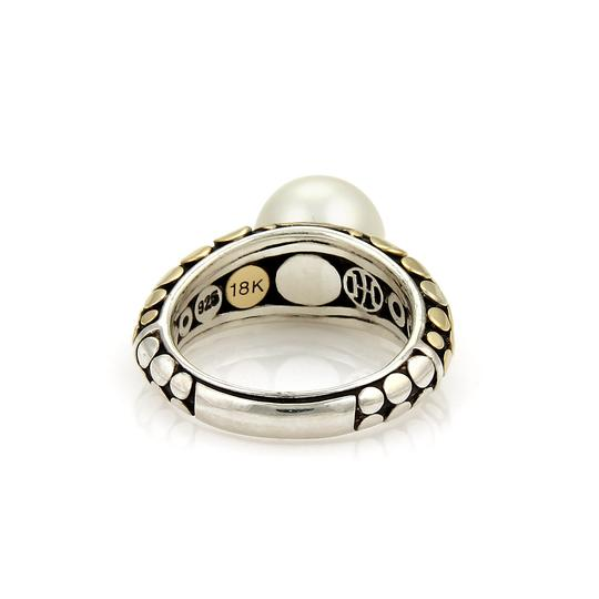 John Hardy Dots Pearl 18k Yellow Gold & Sterling Ring Image 2