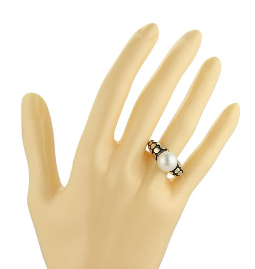 John Hardy Dots Pearl 18k Yellow Gold & Sterling Ring Image 3