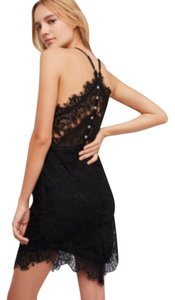 Free People short dress NWT Black Mother Of Pearl Buttondown on Tradesy