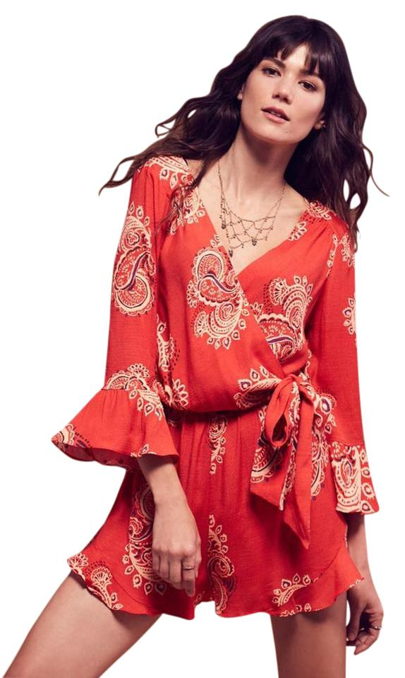 0d6ae8dbc50 Free People Paisley Red Size Xs