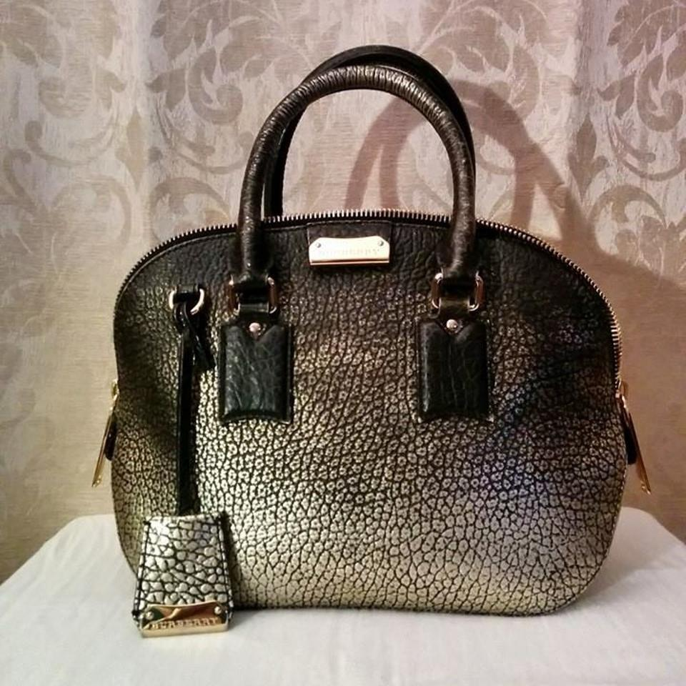 0a84f4f722c5 Burberry Small Orchard From Metallic Signature Grain Soft Leather. Satchel  - Tradesy