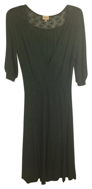 Item - Green Embroidered Faux Wrap Mid-length Casual Maxi Dress Size 8 (M)