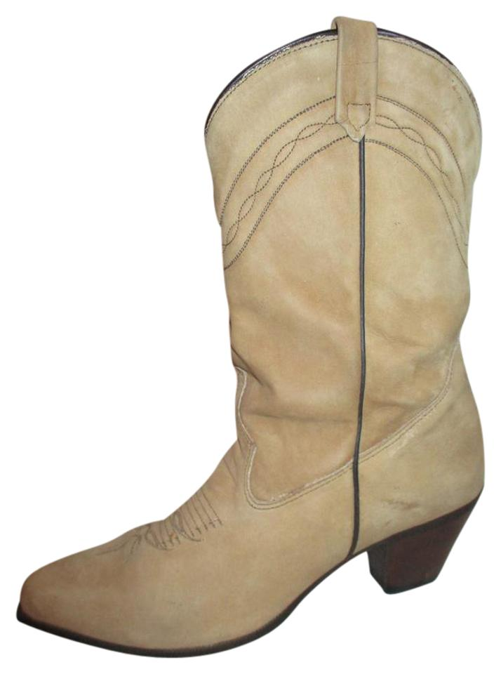 bd8bf997b7f Tan Vintage Suede Western Boots/Booties Size US 7.5 Regular (M, B)