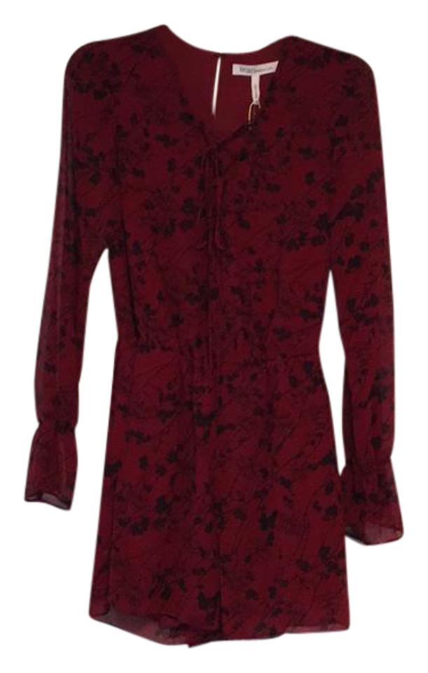 c766c48ea61a BCBGeneration Red and Black Cherry Blossom Romper Jumpsuit - Tradesy