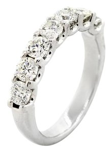 F 1.30 Cts Round Cut In 14k White Gold Women's Wedding Band