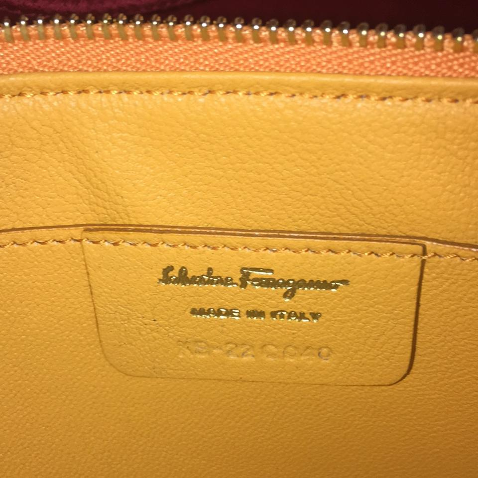 e274898d1ed4 Salvatore Ferragamo Never Used Orange Leather Cross Body Bag - Tradesy