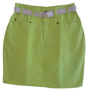 The Limited Belt Included Mini Skirt neon green