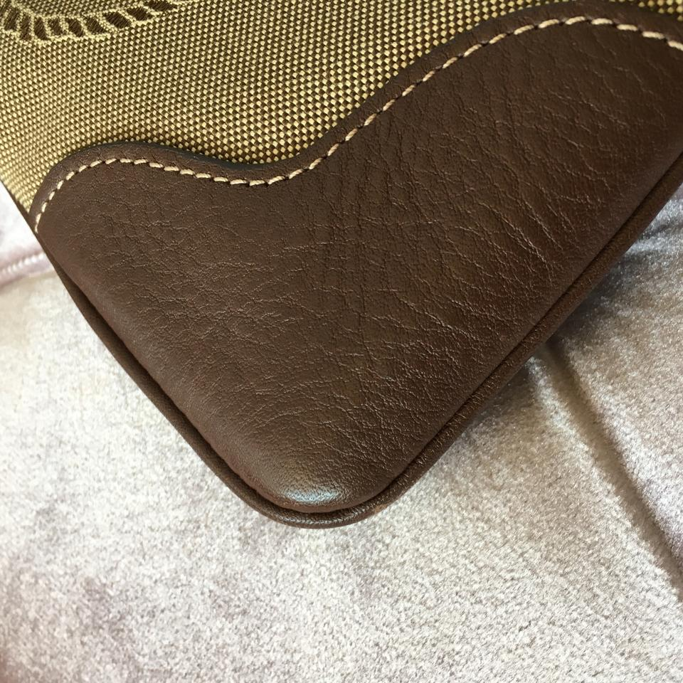 Leather Corda Bag Brown Beige and Jacquard Prada Messenger brucia Logo Canvas gxZBq0Pw