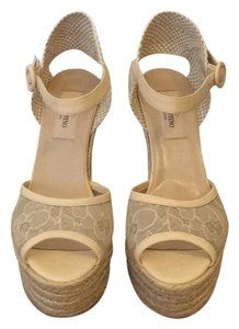 Valentino Nude / Cream Platforms