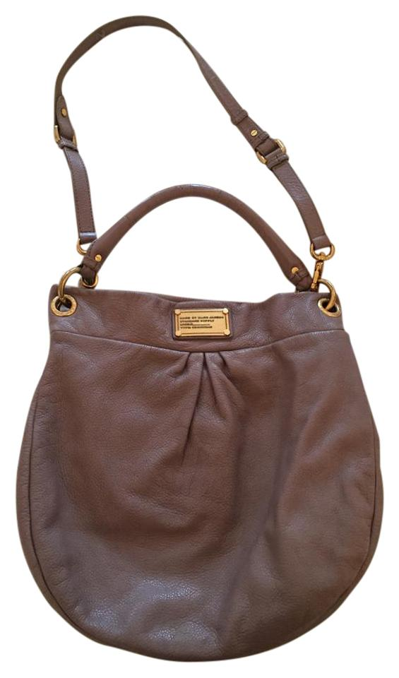 5db1bbcc66e8 Marc by Marc Jacobs Hillier Hobo Grey Leather Shoulder Bag - Tradesy