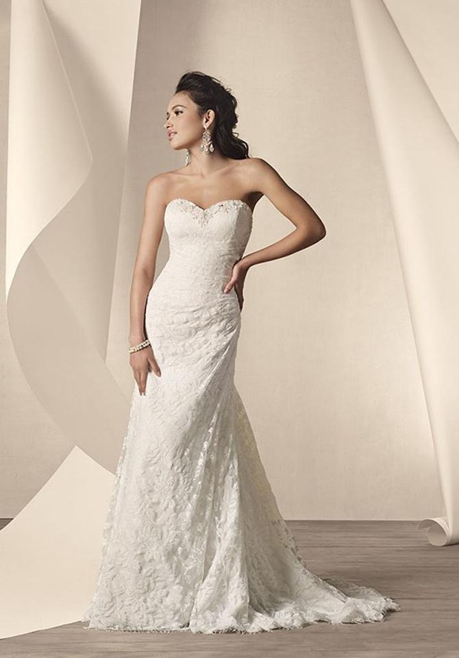 21ad56c145 Alfred Angelo White Lace 2208 Destination Wedding Dress Size 10 (M ...