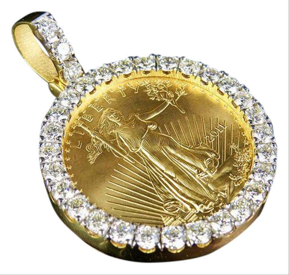 necklaces air us pendant pendants coin gold force necklace