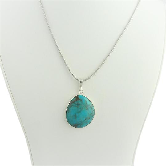 Other Large Pear Shape Turquoise Pendant- Sterling Silver Image 1