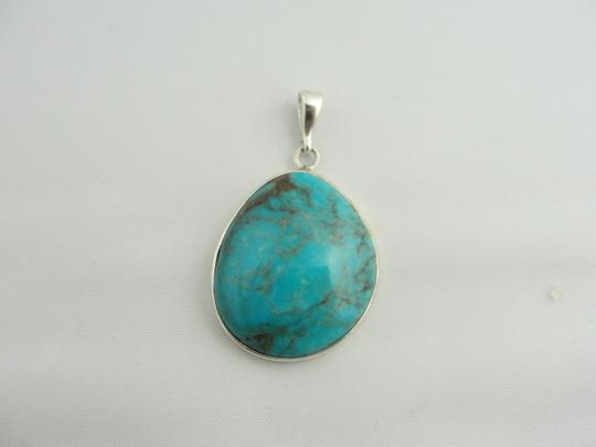 Other Large Pear Shape Turquoise Pendant- Sterling Silver Image 4