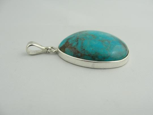 Other Large Pear Shape Turquoise Pendant- Sterling Silver Image 6