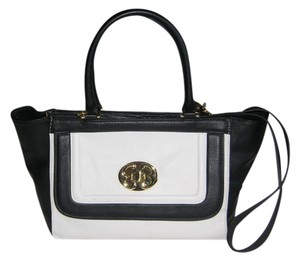 Emma Fox West Tote Stunning Satchel in Black & White
