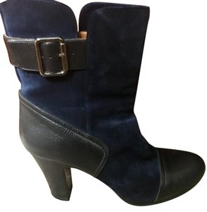 Chie Mihara Leather Stylish Suede Blue Boots