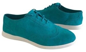 Cole Haan Oxford Suede Comfortable Blue Flats
