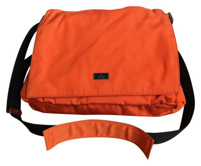 Item - Cross Body Orange Nylon Messenger Bag