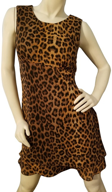 Preload https://item5.tradesy.com/images/cdc-caren-desiree-company-brownblack-fit-and-flare-animinal-print-short-cocktail-dress-size-8-m-21834-0-2.jpg?width=400&height=650