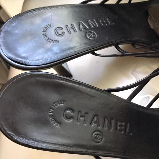 Chanel Black Sandals Image 5
