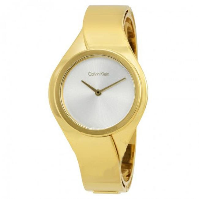 Item - Gold White Senses Ladies Bangle Watch