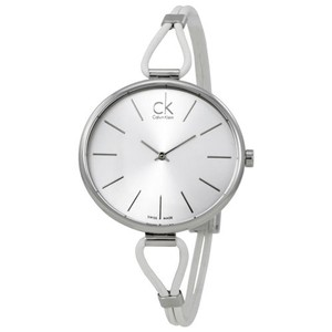 Calvin Klein Selection Silver Leather Ladies Watch