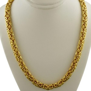 """Veronese Collection STERLING SILVER ITALY Veronese High Polish Byzantine Necklace 18"""""""