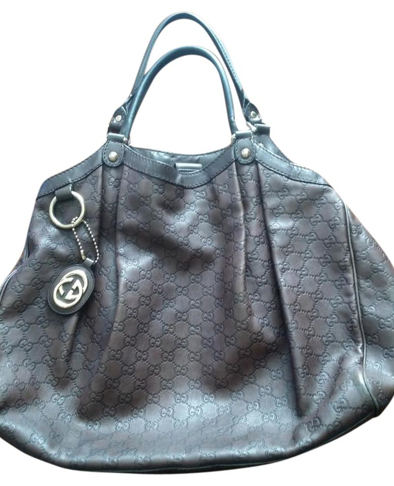 a650b1b4b397 Gucci Sukey Large Guccissima Chocolate Brown Leather Shoulder Bag ...