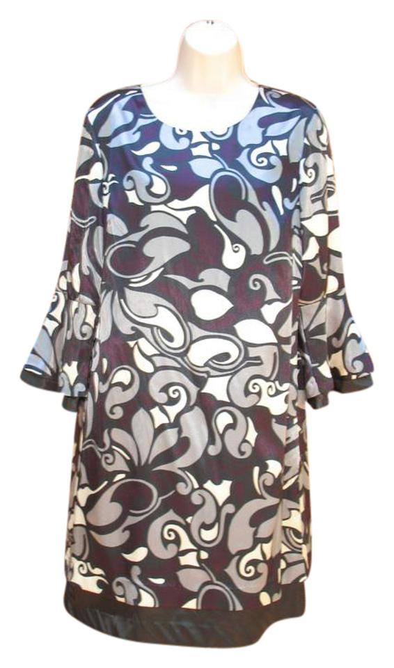 77a143ea4bf3 INC International Concepts Satin Paisley Mod 60's Inspired Shift Night Out  Dress